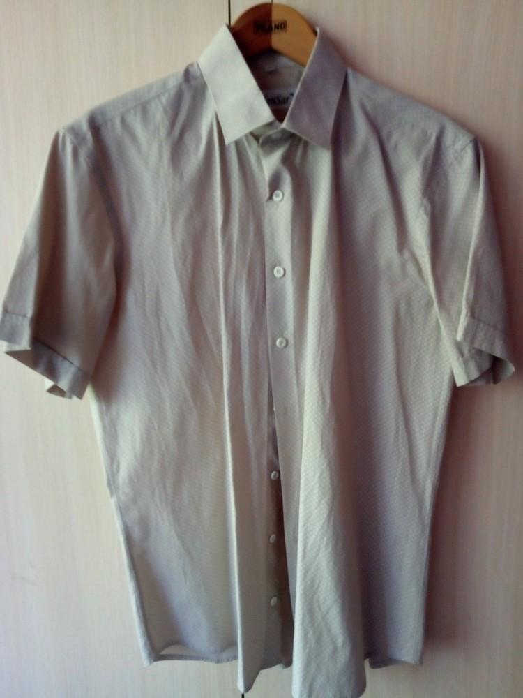 Рубашка летняя размер ворота 42 офисная повседневная фото №1