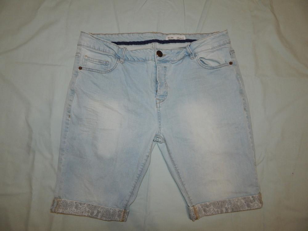 Denim co шорты мужские джинсовые модные рl-xl w36 eur 46 strech skinny фото №1