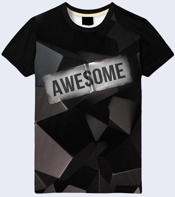 Мужская футболка 3d awesome большой выбор фото №1