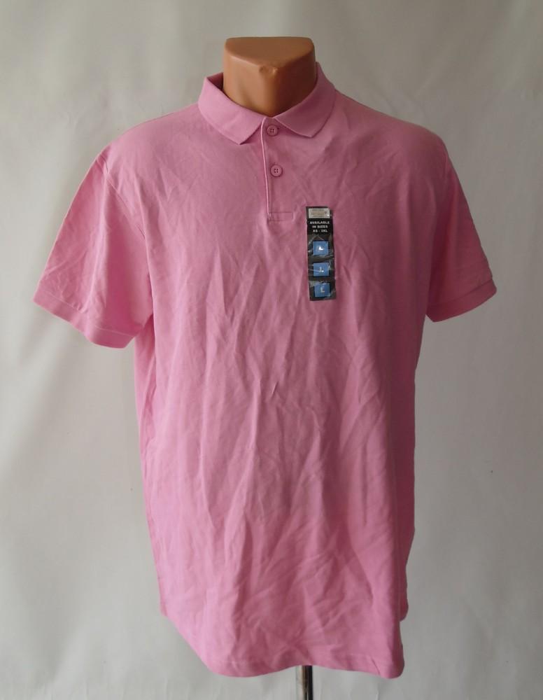 Розовая футболка-поло для мужчин primark л фото №1