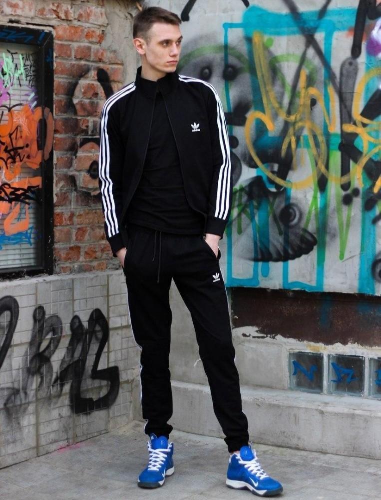 Костюм adidas черный и красный фото №1