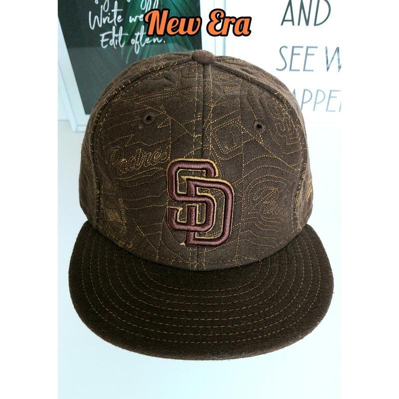 New era 58см крутая коричневая полушерстяная бейсболка фото №1