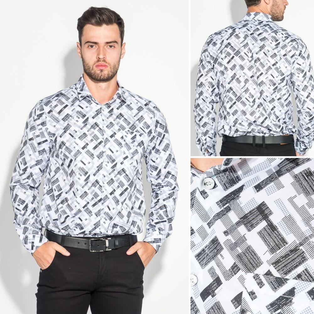 Рубашка мужская светлый принт фото №1