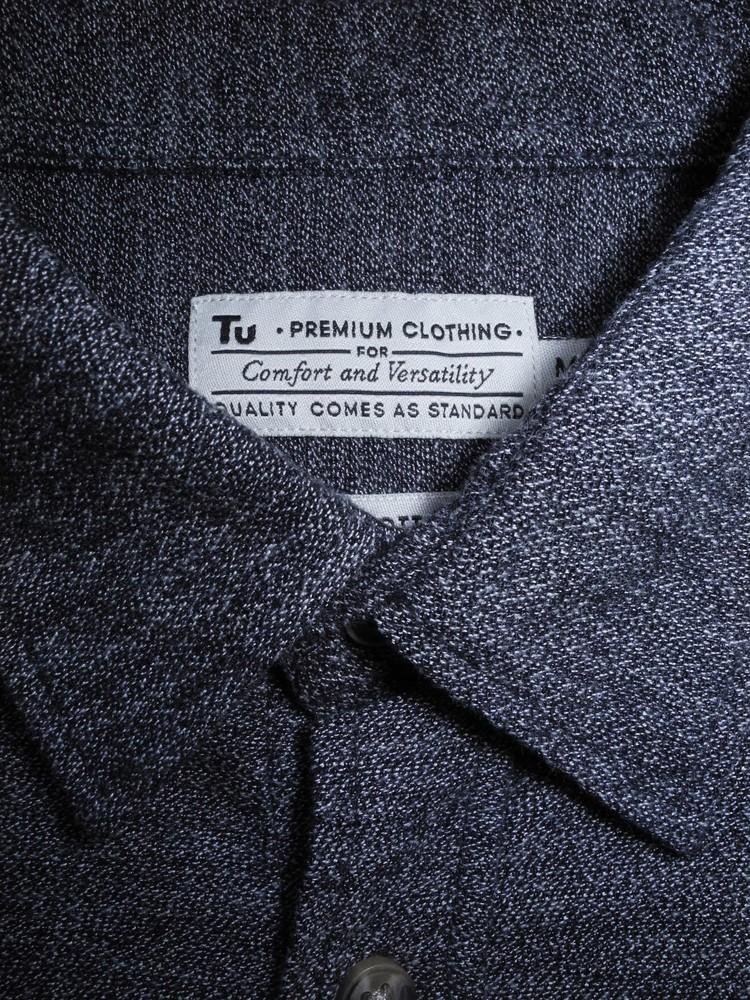 Мужская рубашка серая фактурная меланж premium tu м фото №1