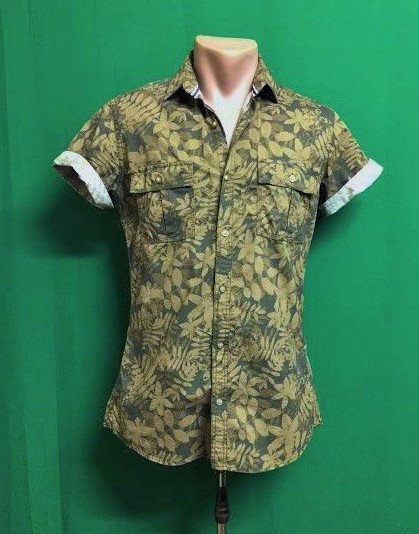 Брендовая приталенная камуфляжная рубашка милитари jodhpur week-end фото №1