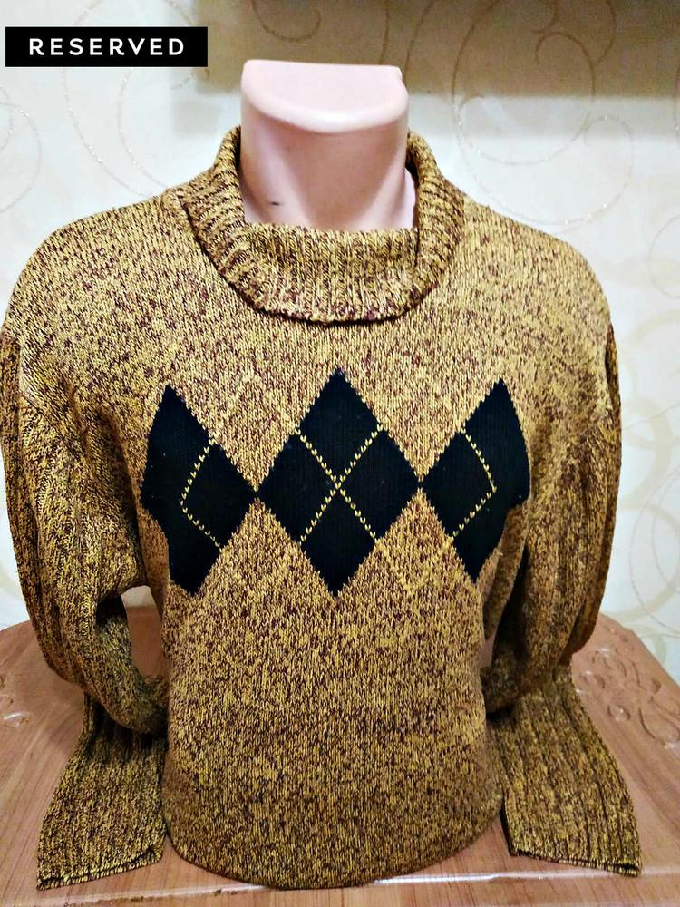 Вязаный свитер с ромбами от reserved, р. xxl фото №1