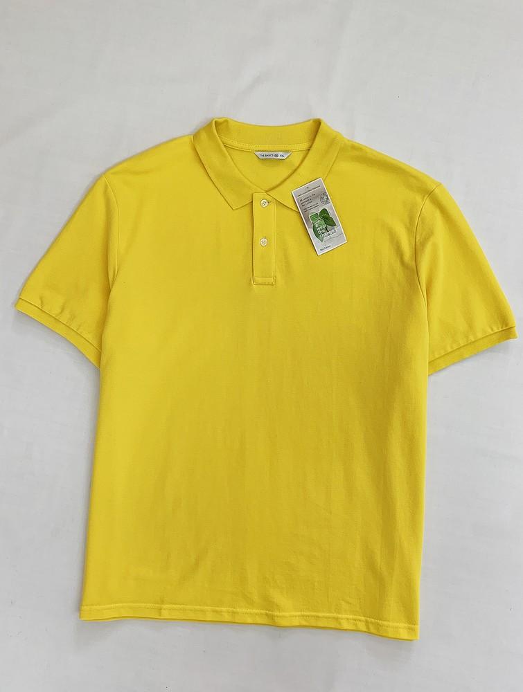Ярко-желтое хлопковое поло фото №1
