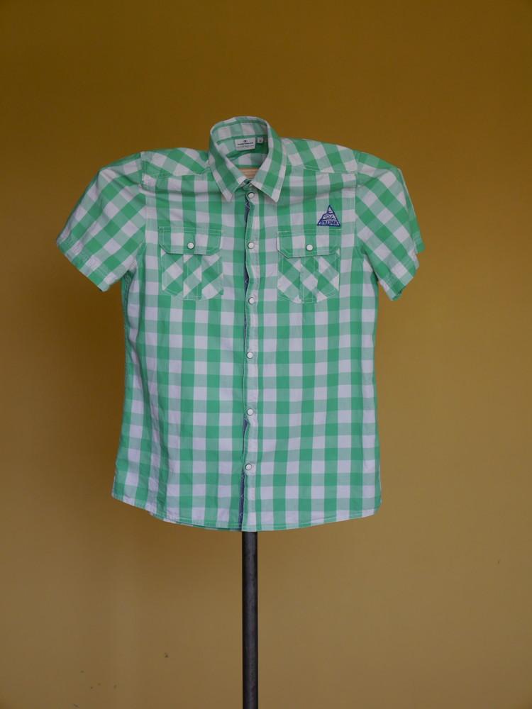 Рубашка-теніска котонова розмір xl tom tailor фото №1