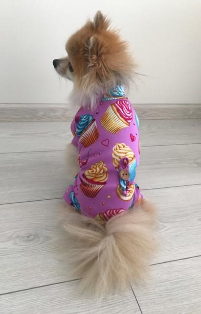 Костюм для собак мороженое сиреневый d-64 фото №1