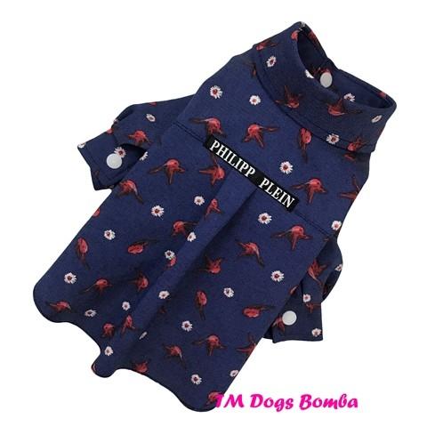Рубашка для собачек птички красные rub-31 фото №1