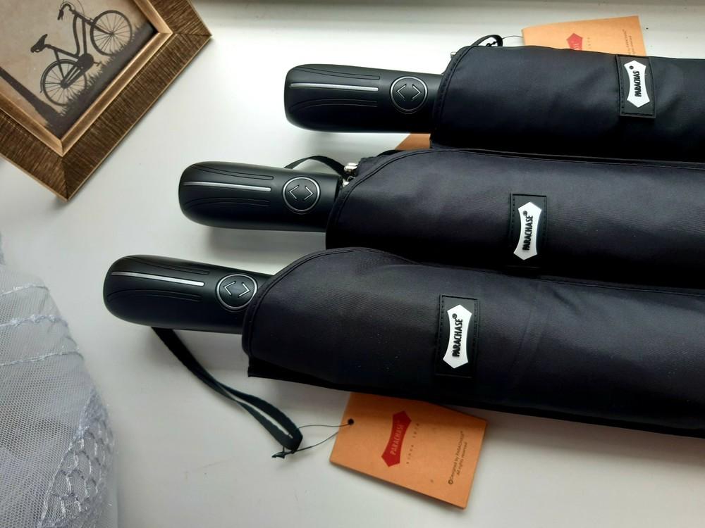 Благородный мужской мощный зонт автомат рarachase 123см диаметр фото №1