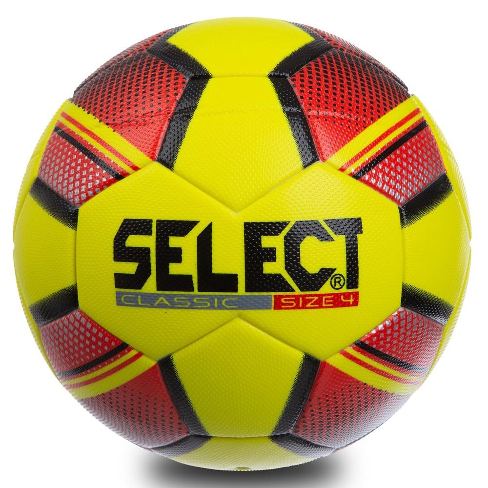 Мяч футзальный №4 select classic 0555: pvc, желто-красный фото №1