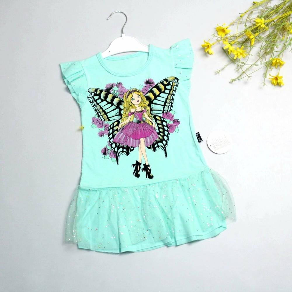 Красивые летние платья для девочек. разные цвета фото №1