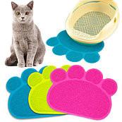 Коврик для домашних животных paw print litter mat фото №1