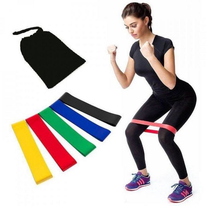 Резинки для спорта фитнеса набор фитнес резинок фото №1