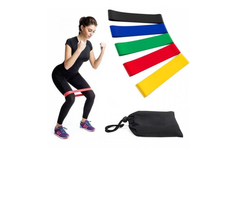 Резинки loop bands для фитнеса.набор- 5 шт с чехлом фото №1