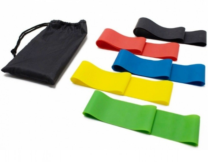 Набор из 5 резинок и чехол. резинки для фитнеса loop bands фото №1