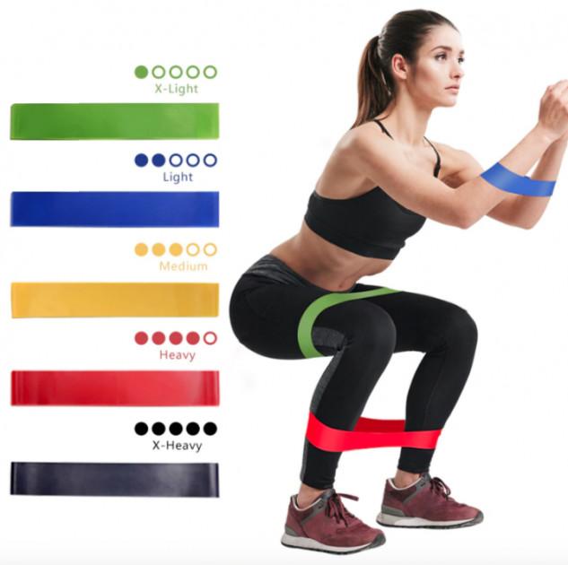 Резинки для фитнеса набор из 5 штук фото №1