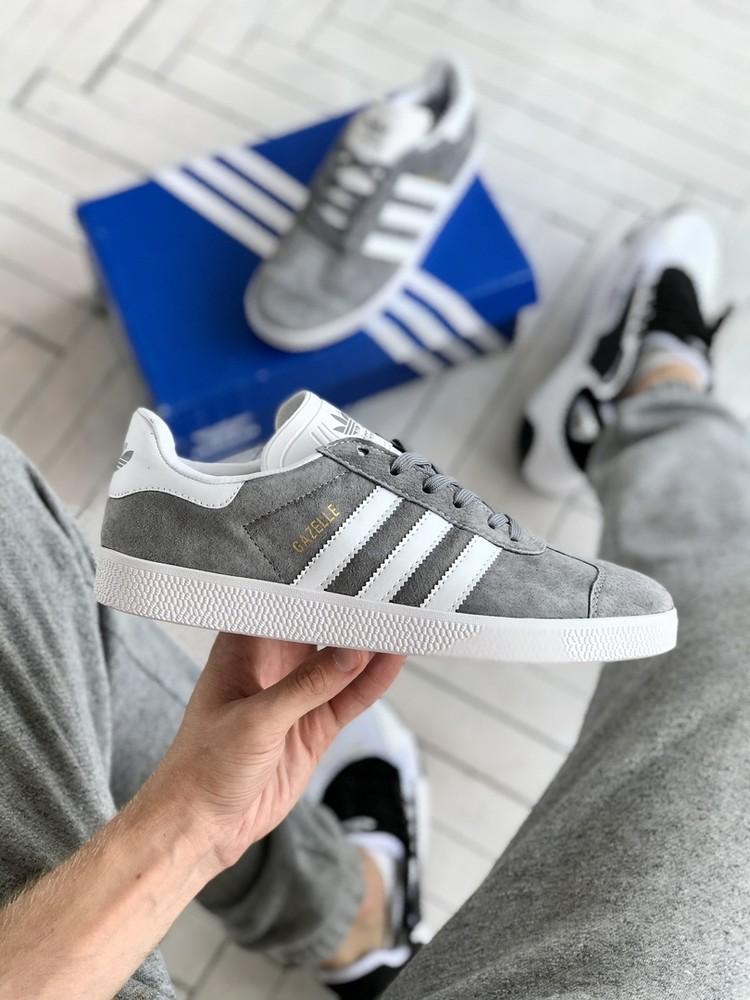Мужские кроссовки adidas gazelle grey (aaa+)40-41-42-44 фото №1