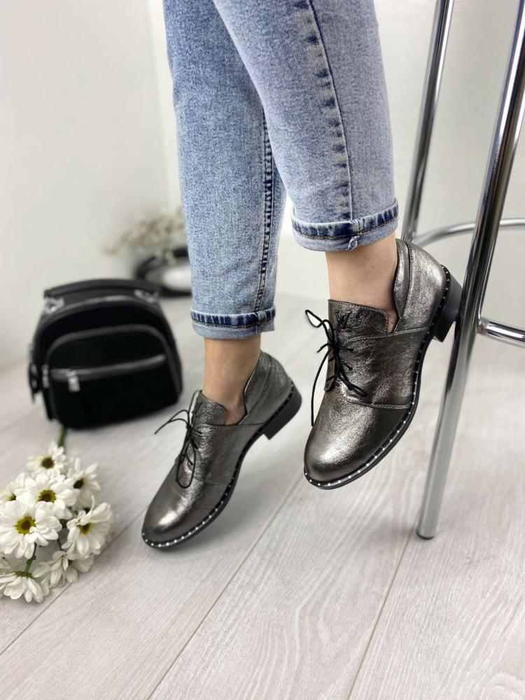 Женские кожаные туфли фото №1
