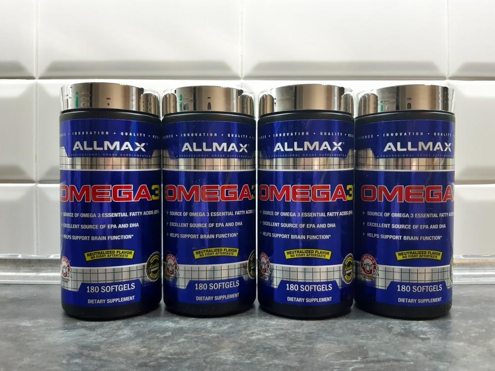 Allmax nutrition, omega-3 ultra-pure (180 капс.), омега-3, рыбий жир фото №1