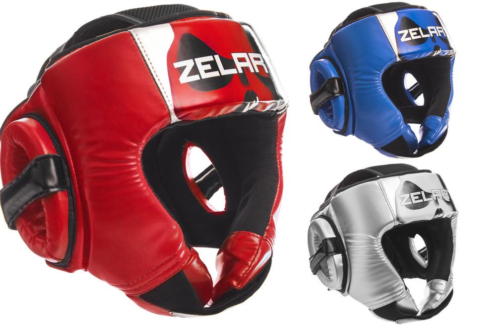 Шлем боксерский открытый zelart 1316: размер m-xl, 3 цвета фото №1