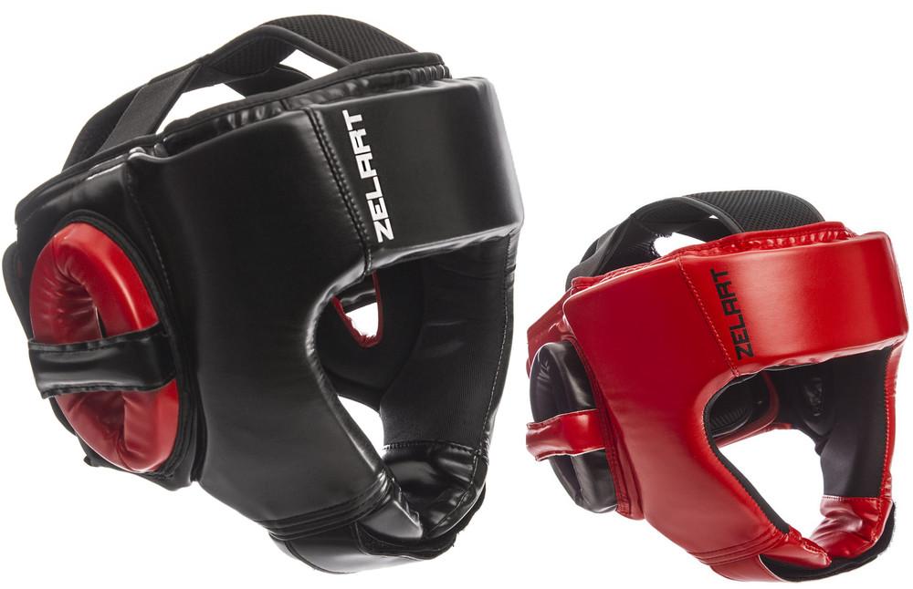 Шлем боксерский открытый zelart 1349: размер m-xl, 2 цвета фото №1