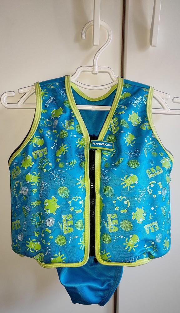 Детский жилет для плавания speedo sea squad swim vest со съемной частью фото №1
