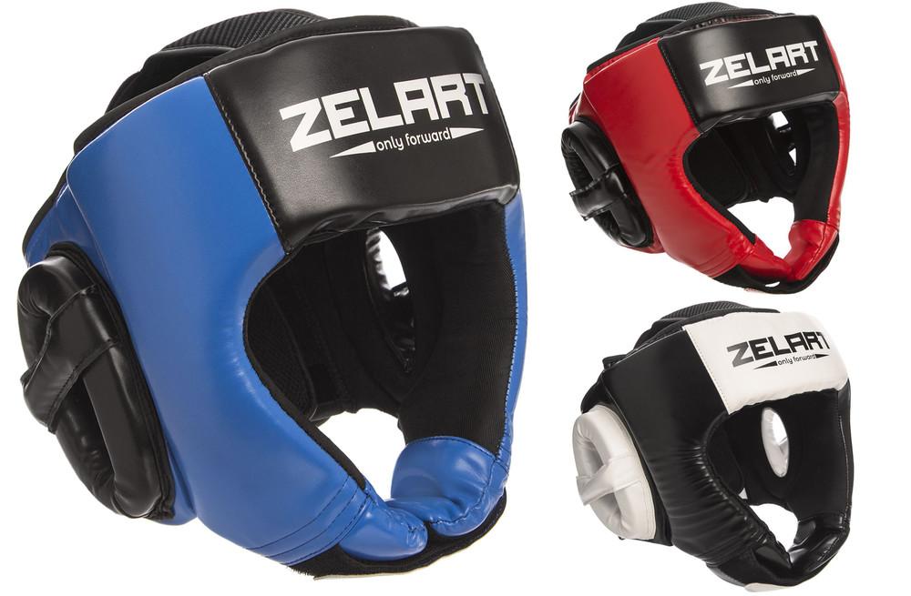 Шлем боксерский открытый zelart 1386: размер m-xl, 3 цвета фото №1
