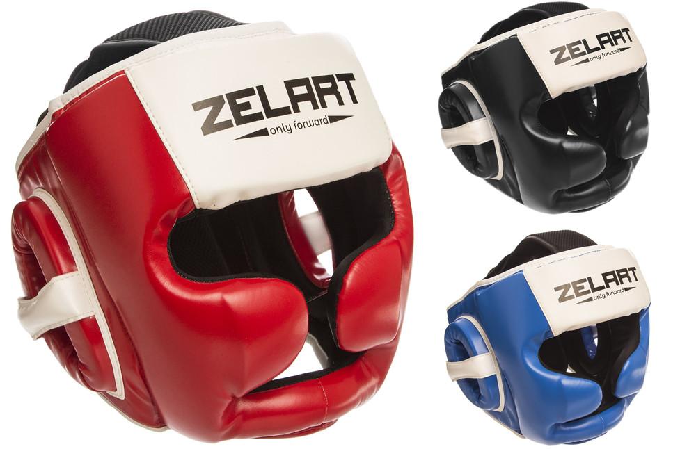 Шлем боксерский с полной защитой zelart 1390 (шлем бокс): размер m-xl (3 цвета) фото №1