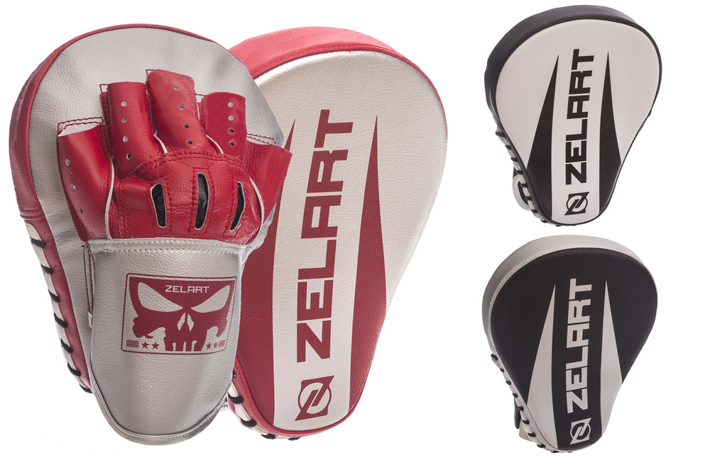 Лапа изогнутая боксерская zelart 1325: 2 лапы в комплекте, размер 25x19x4см фото №1