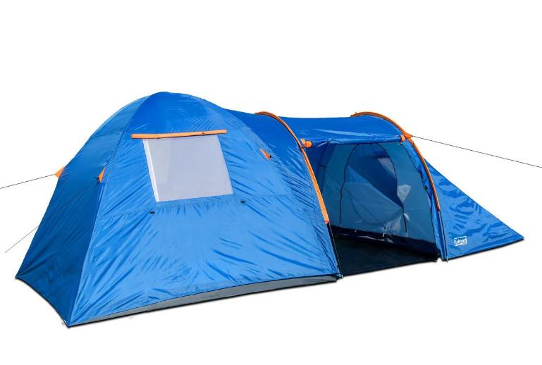 Туристическая палатка 4-х четырехместная coleman 1009, колеман четырехместная намет фото №1