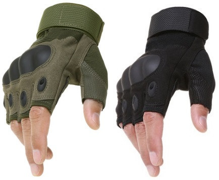 Перчатки без пальцев штурмовые тактические oakley фото №1