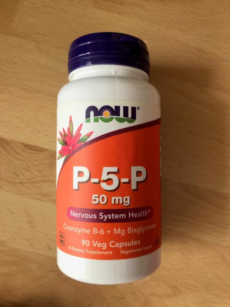 Витамины р-5-р 50 мг, now, магний + в6 фото №1