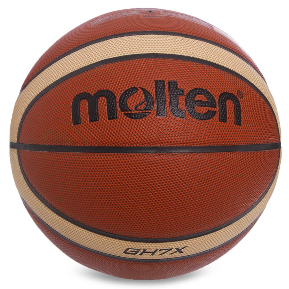 Мяч баскетбольный резиновый molten №7 bgh7x: размер №7 (pu, бутил) фото №1
