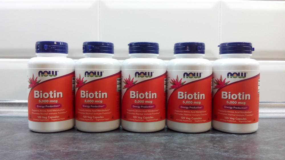Now foods биотин, 120 капсул по 5000 мкг, biotin, біотин для волос фото №1