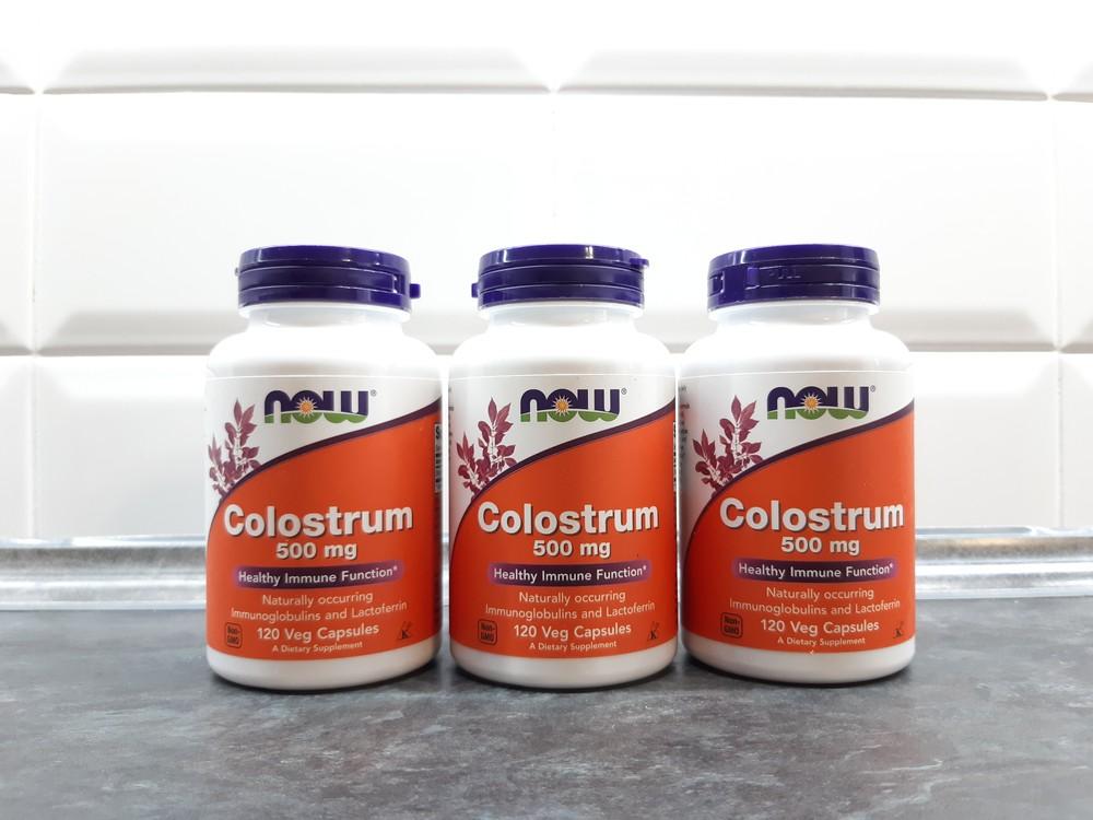 Now foods, colostrum (120 капс.), молозиво, колострум, для иммунитета фото №1