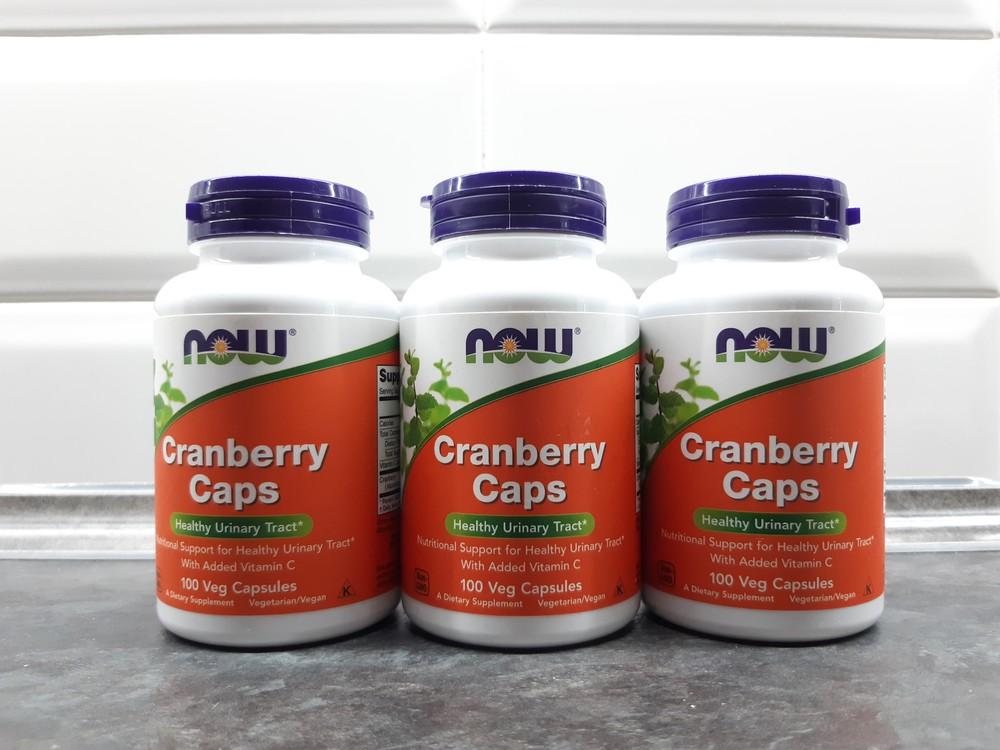Now foods, cranberry caps (100 капс.), клюква + витамин с, журавлина фото №1