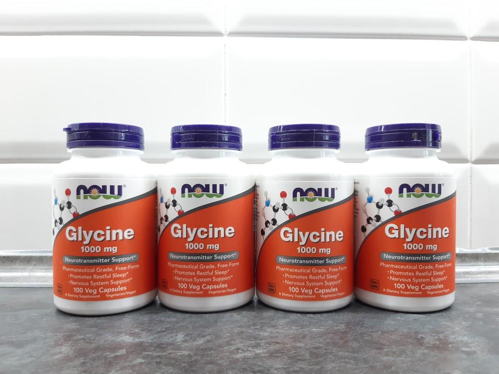 Now foods, глицин (100 капс. х 1000 мг), glycine, гліцин, аминокислоты фото №1
