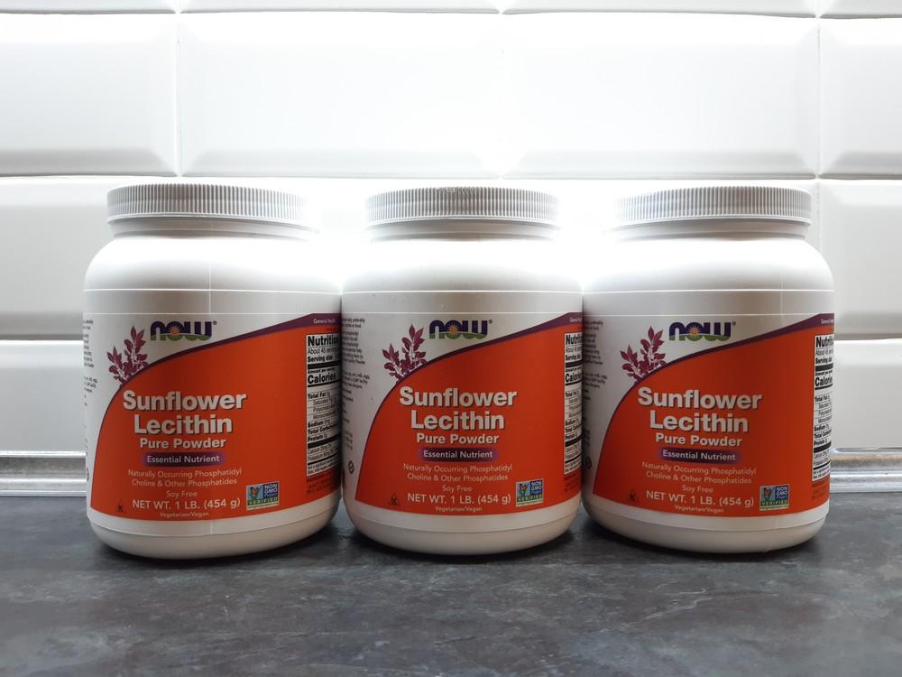 Now foods, лецитин из подсолнечника, 454г порошок, sunflower lecithin фото №1