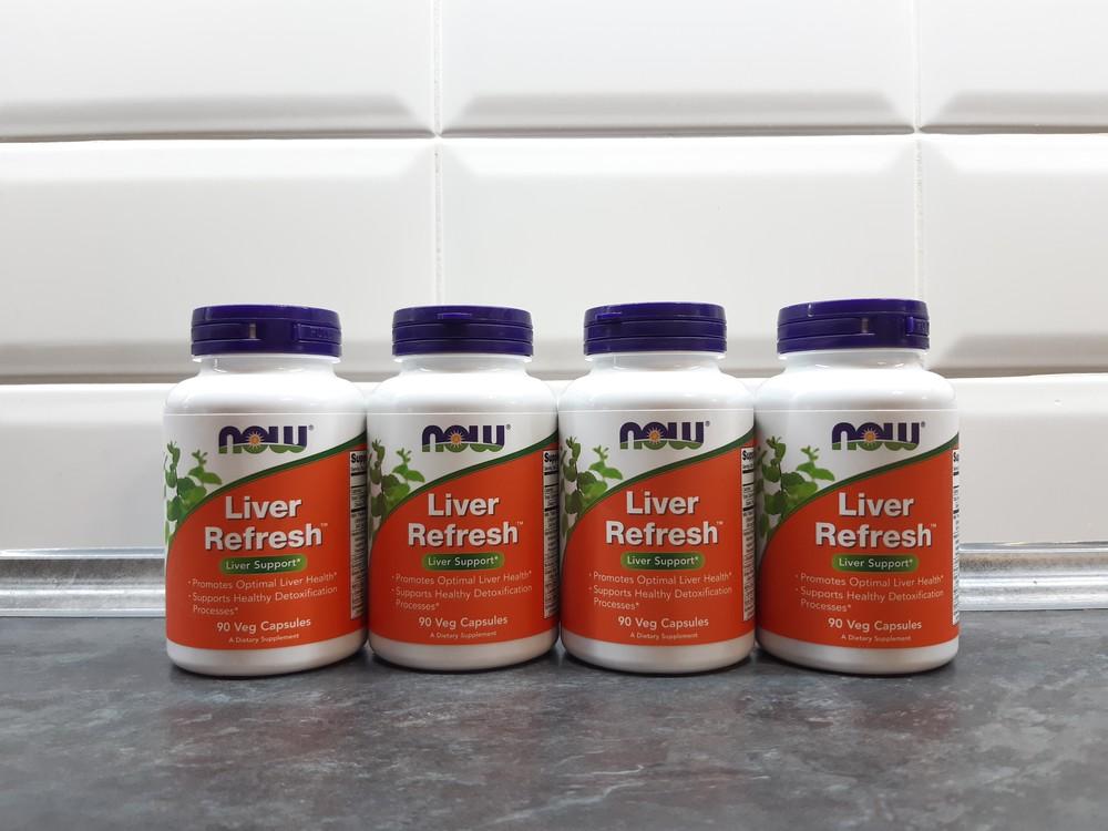 Now foods, liver refresh, 90 капс., очистка печени, силимарин фото №1