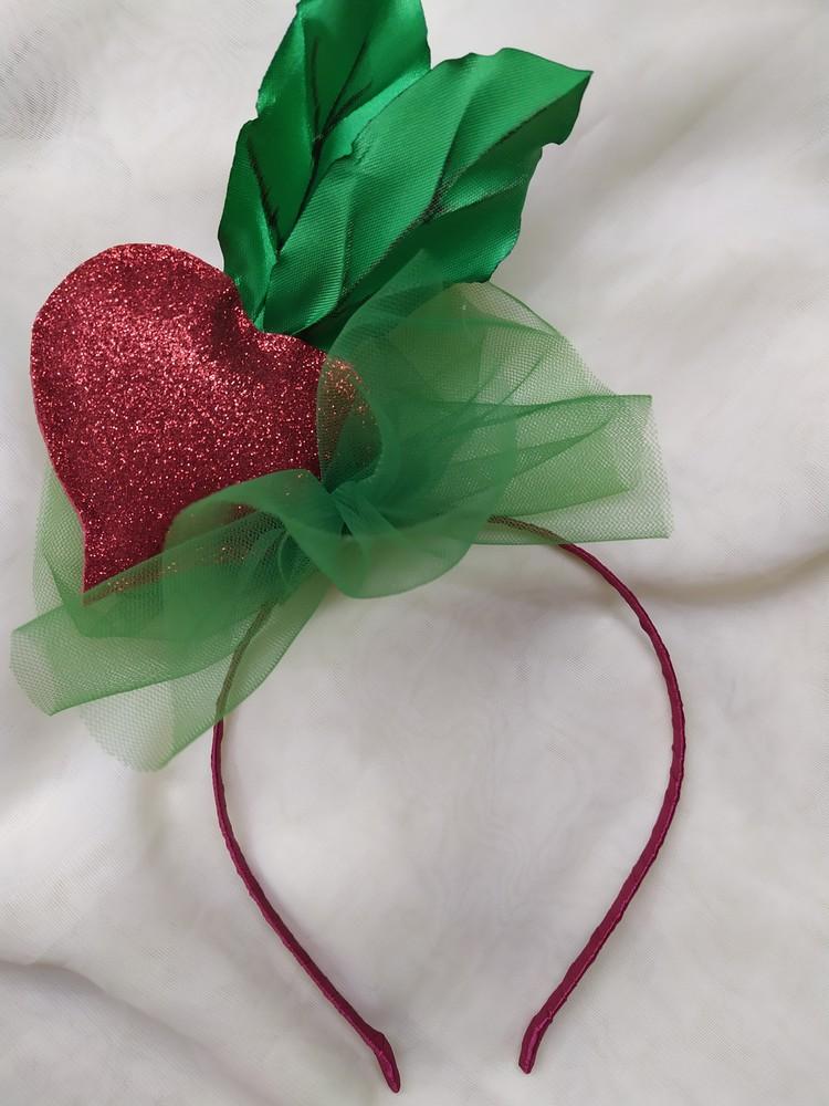 Обруч буряк, ободок свекла, веночек на праздник осени фото №1