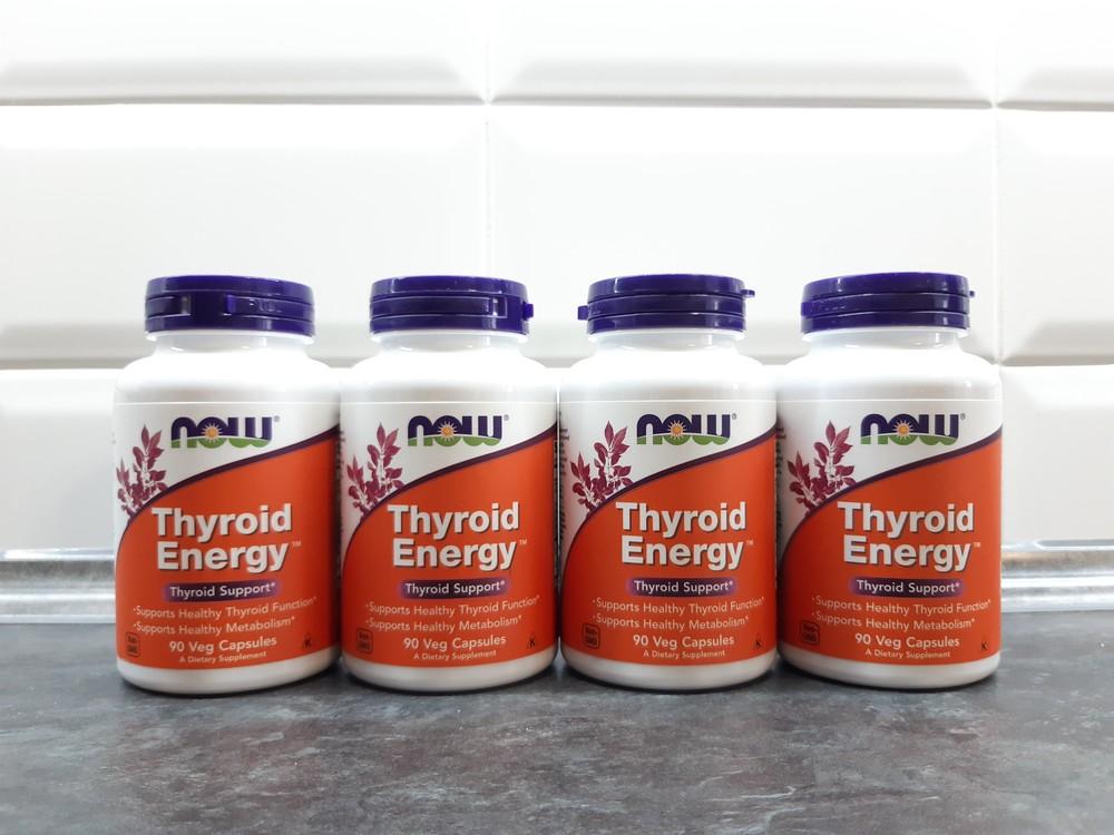 Now foods thyroid energy, 90 капс, тирозин+йод+ в12+в6, для щитовидной фото №1