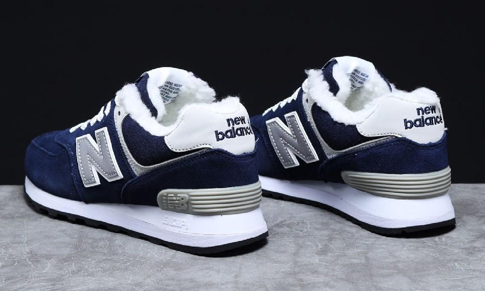 ► тёплые зимние кроссовки new balance т7_31355, женские темно-синие фото №1