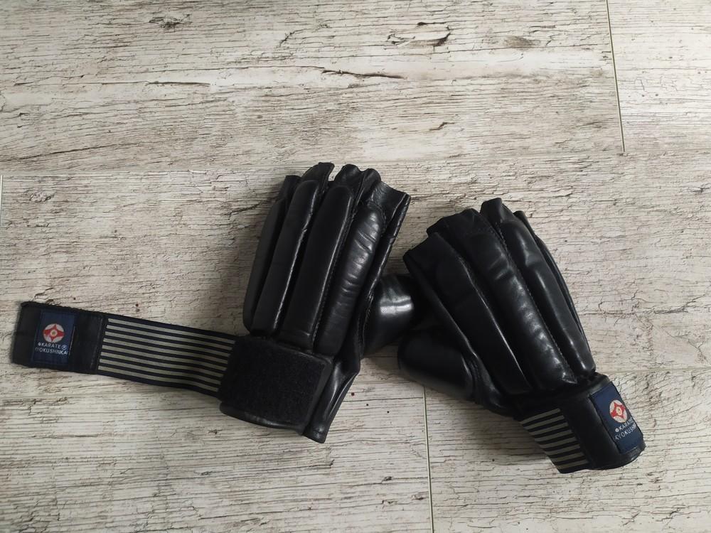 Перчатки для карате. битки кожа. размер l фото №1