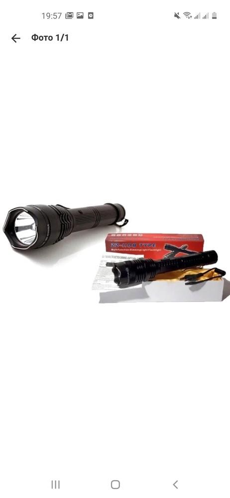 Аккумуляторный фонарик титан 1108 фото №1