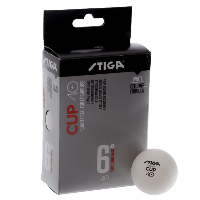 Набор мячей для настольного тенниса stiga cup 1110-25: 6 мячей в комплекте фото №1