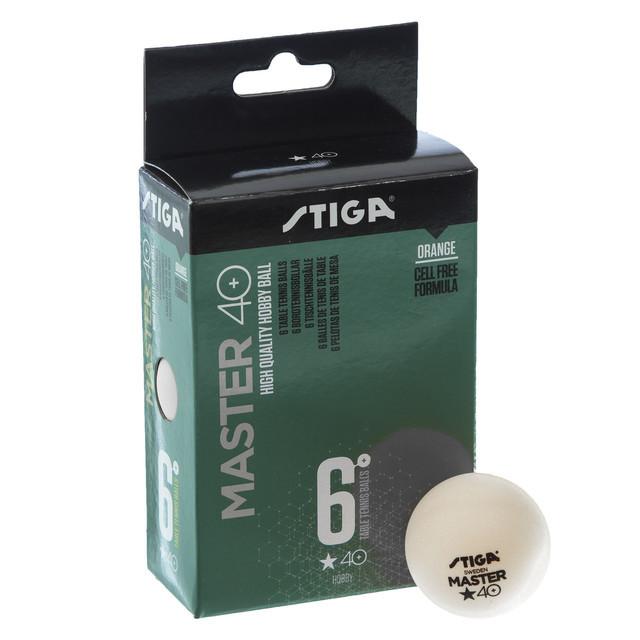 Набор мячей для настольного тенниса stiga master 1 star 1112230306: 6 мячей в комплекте (2 цвета) фото №1