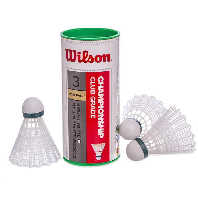 Воланы для бадминтона нейлоновые wilson championship 6040: 3 волана в комплекте фото №1