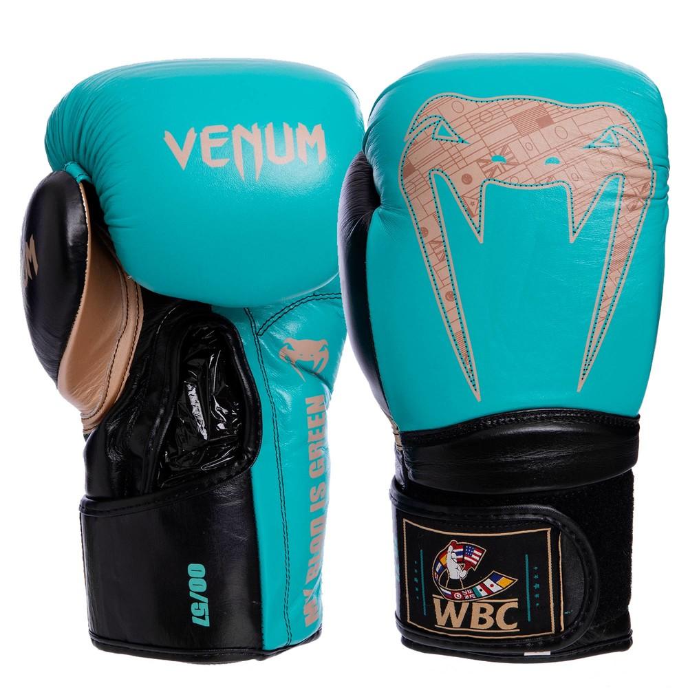 Перчатки боксерские кожаные на липучке venum giant 2.0 pro 1999: 10-14 унций фото №1